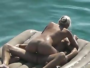 Cute couple floating and fucking