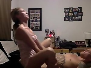 Young woman is a true cowgirl in sex