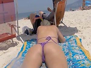 Girlfriend inspected behind boyfriend's back