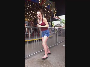 Hottie at the carousel Picture 8