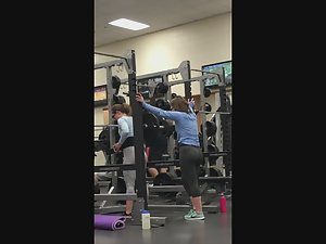 Hot butts doing squats in gym Picture 4