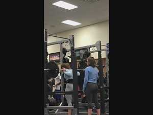 Hot butts doing squats in gym Picture 6