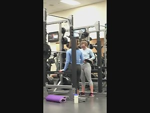 Hot butts doing squats in gym Picture 7