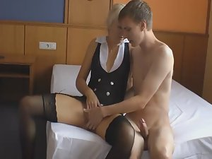 Milf fucked by twice younger guy