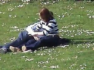 Teens masturbate each other in a park