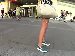 Simply adorable young blonde in shorts Picture 7
