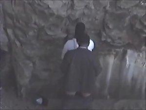 Guy fucks a black girl near rocks Picture 3