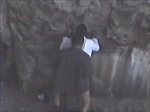 Guy fucks a black girl near rocks Picture 8