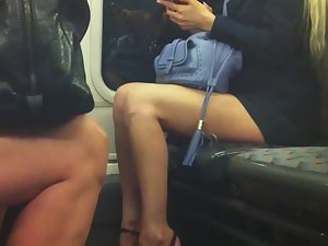 Smoking hot babe from the subway