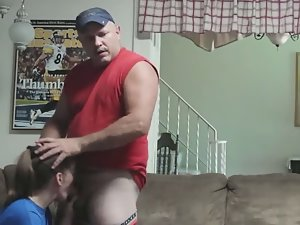 Wild fuck in the living room