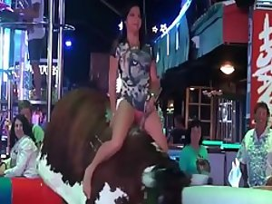 Alluring little nude mechanical bull riding hottest