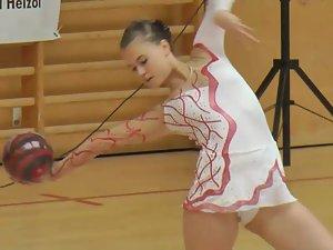 Smoking hot rhythmic gymnastics girl Picture 3