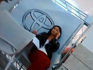 Toyota hostess got a tight cameltoe