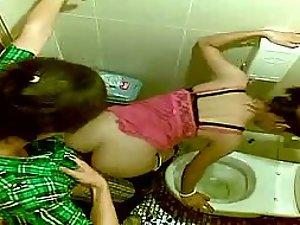 Friends secretly film them fuck in toilet