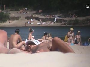 Nudist girl's boobs groped by a guy Picture 4