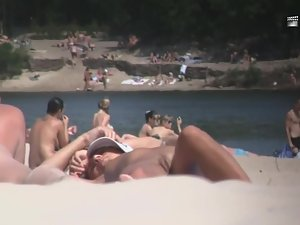 Nudist girl's boobs groped by a guy Picture 6