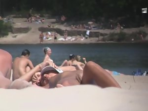 Nudist girl's boobs groped by a guy Picture 7