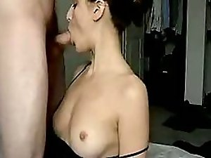 Pretty wife gets head fucked by her man