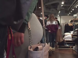 Chubby girl shops with boyfriend Picture 2