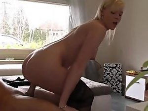 Seductive cowgirl rides a hard dick