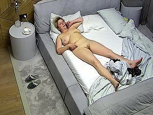 Peeping on naked mother in bedroom