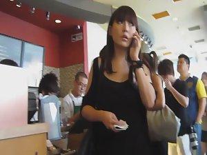 Upskirt of hot chinese business woman