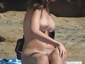 Beautiful pair of beach boobs