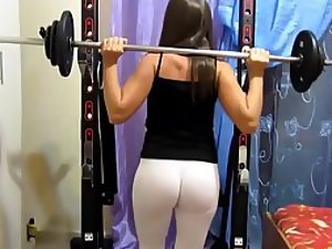 Sexy form of squats with weights
