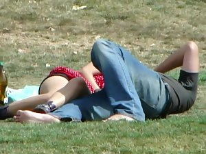 Shameless groping and kissing in public Picture 1