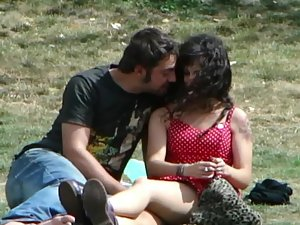 Shameless groping and kissing in public Picture 5