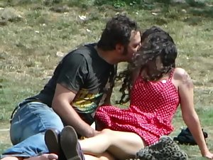 Shameless groping and kissing in public Picture 6