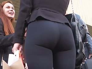 Fancy woman with awesome body in tight clothes