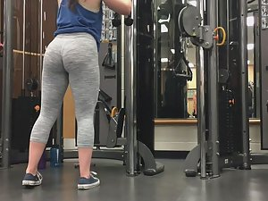 Sexy sisters working out in gym Picture 3