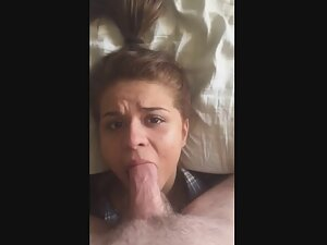 Two loads of cum while mouth fucking her