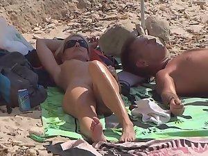 Hot nudist milf got nice plump butt