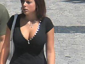 Big rack of a girl on the street