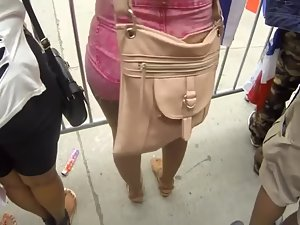 Stand behind excited girl's arousing ass Picture 3