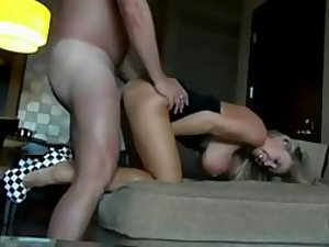 Fucking a blonde milf with huge boobs