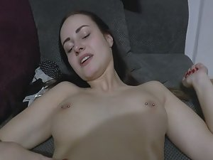Orgasmic girl having a good time