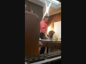 Flirty coworker gives blowjob to boss Picture 6