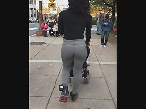 Fit black milf stalked on street Picture 7