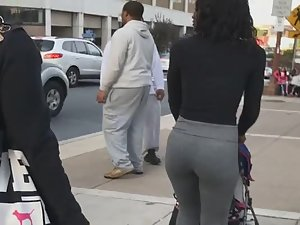 Fit black milf stalked on street