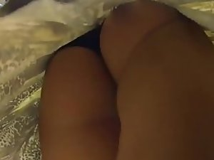 Bubble butt under a skirt