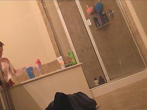 Sister's vanity spied in bathroom Picture 7