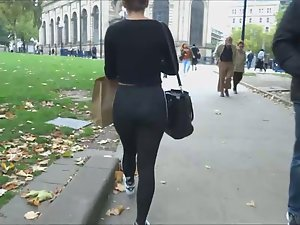 Creepshot of her tights and thong Picture 3
