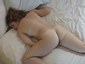 Lovable stepsister caught masturbating