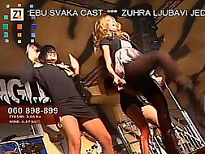 Hot cameltoe on a croatian singer
