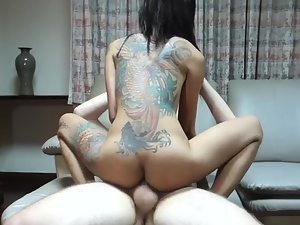 Great fuck with tattooed asian hooker