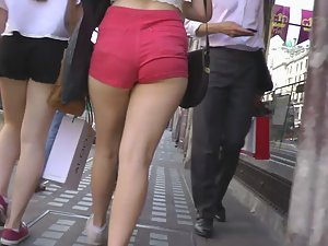 Charging into red shorts and big ass Picture 1