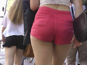Charging into red shorts and big ass